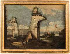 Master of the Correr Museum's Landscapes - Architectural landscape with figures
