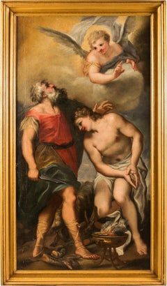 17th century Italian figurative painting - Isaac - Oil on canvas - Venice Figure