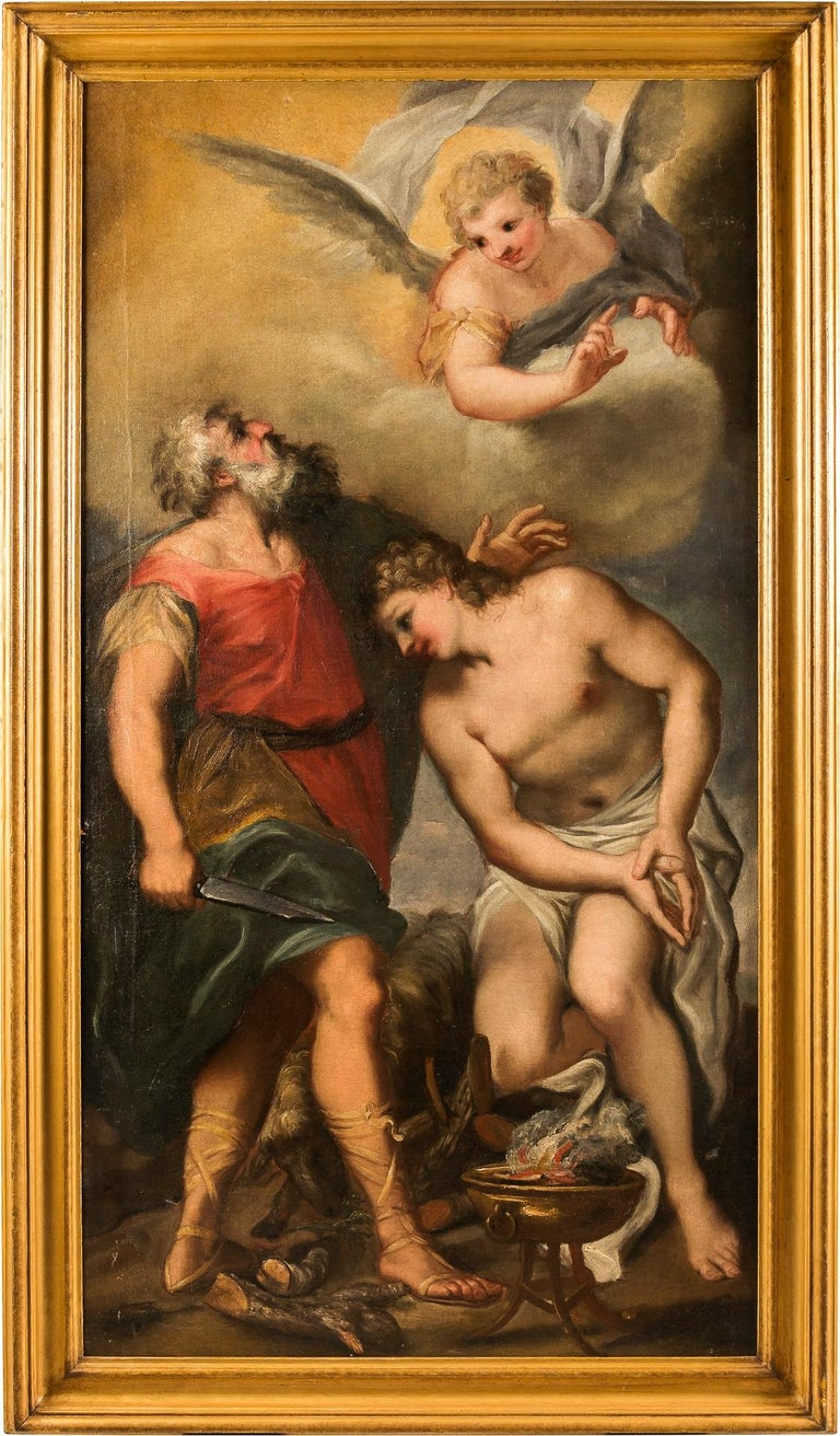 Gregorio Lazzarini Figurative Painting - 17th century Italian figurative painting - Isaac - Oil on canvas - Venice Figure