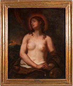 17th century Venetian figure painting - Mary Magdalene - Oil on canvas Venice