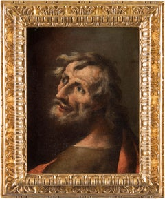 17th century Venetian figure painting - Head portrait - Oil canvas Venice Italy