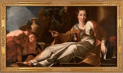 18th century Italian figure painting - Loyalty in Love - Oil on canvas Lazzarini