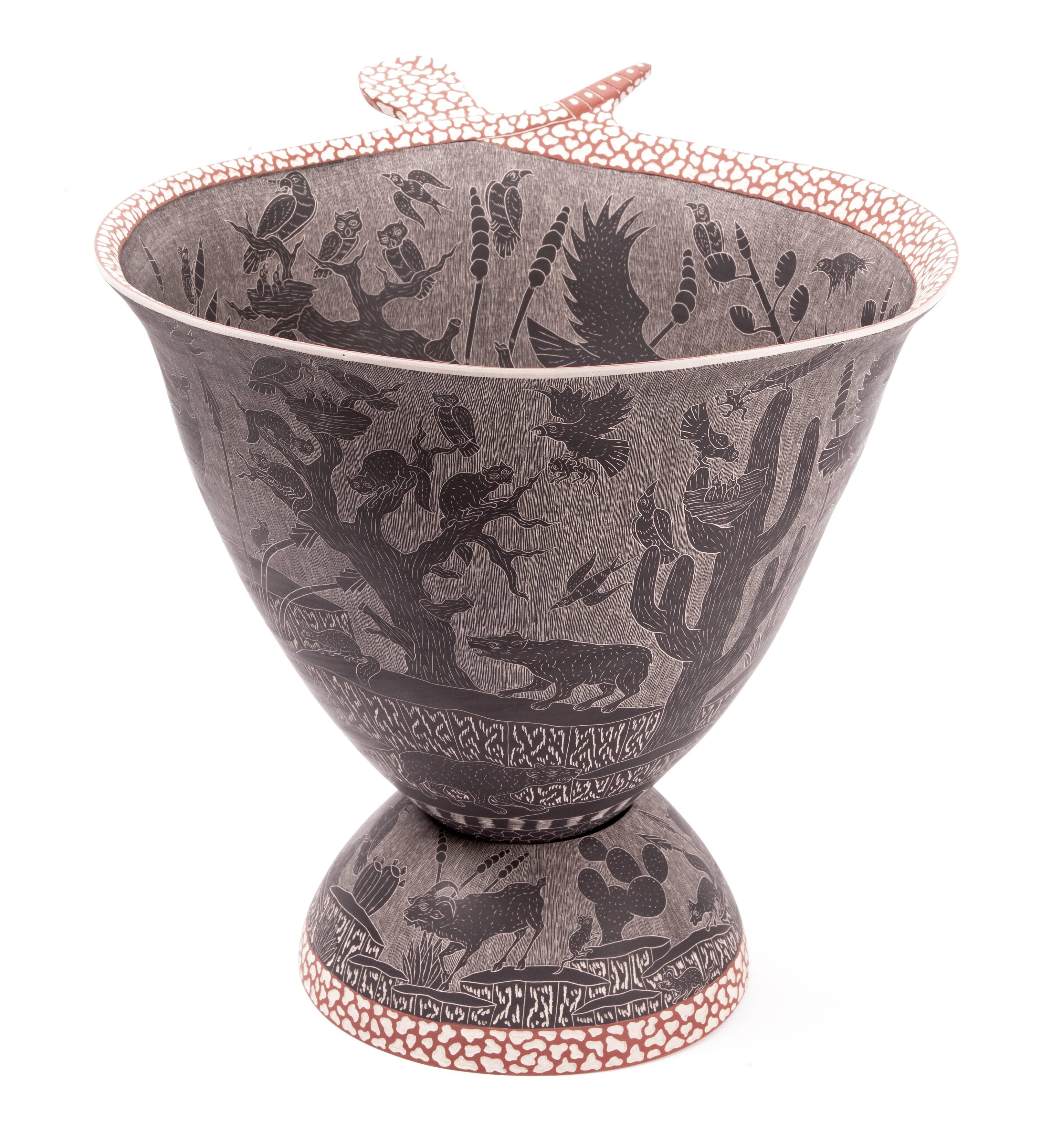 15'' Vasija Nocturna / Ceramic Mexican Folk Art from Mata Ortiz