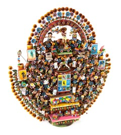 Arbol de Juguetes Alebrije Sculpture Mexican Folk Art