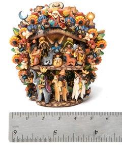 Nacimiento y Dia de Muertos, de Principio a Fin Sculpture Mexican Folk