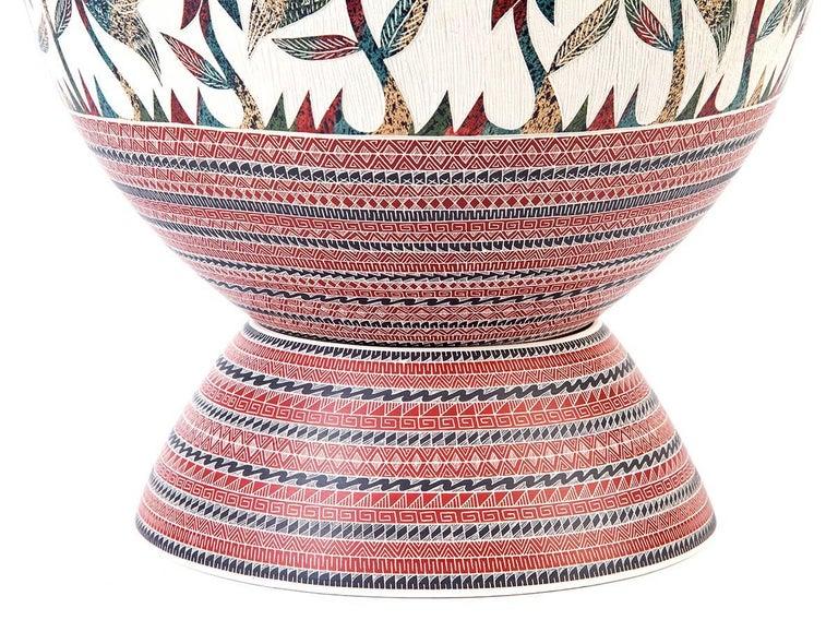 8'' Vasija Multicolor / Ceramic Mexican Folk Art from Mata Ortiz For Sale 2