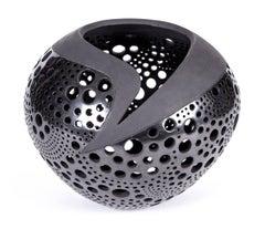 11'' Circulos / Ceramic Black Clay Mexican Folk Art