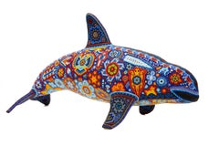 Vaquita Marina - Sea cow - Hand Beaded - Mexican Huichol Art - Mexican Folk Art