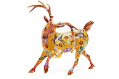 Venado Nahual - Nahual Deer Mexican Folk Art  Cactus Fine Art