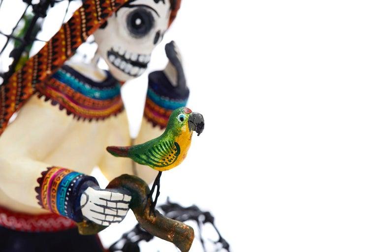 Vendedor de pájaros - Bird seller - Mexican Folk Art  Cactus Fine Art For Sale 11