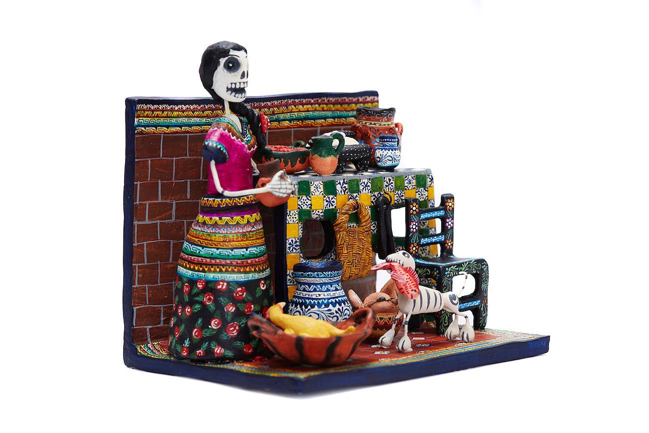 Cocina de Puebla - Puebla Kitchen - Mexican Folk Art  Cactus Fine Art
