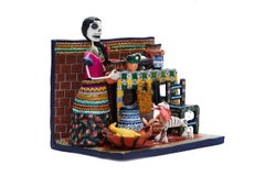 Cocina de Puebla - Puebla Kitchen - Mexican Folk Art  Cactus Fine Art