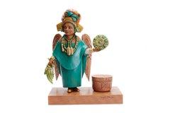 Angel Maya - Maya Angel - Mexican Folk Art  Cactus Fine Art
