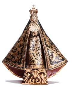 Nuestra Señora de la Soledad - Cardboard - Mexican Folk Art Clay