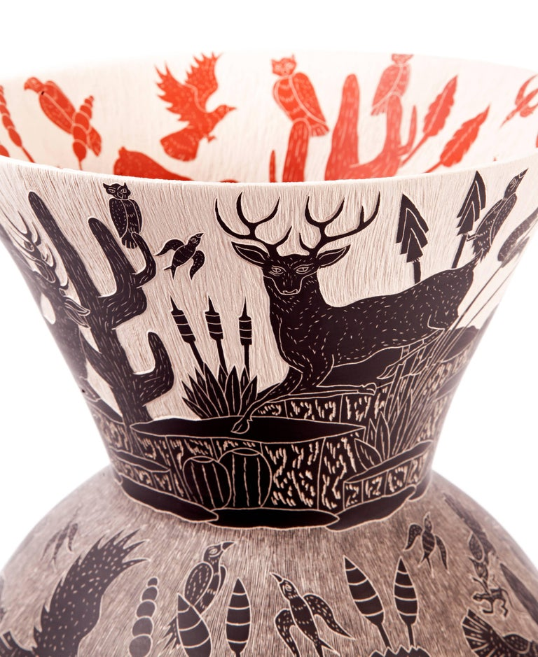 9'' Vasija Colosal / Ceramic Mexican Folk Art from Mata Ortiz For Sale 1