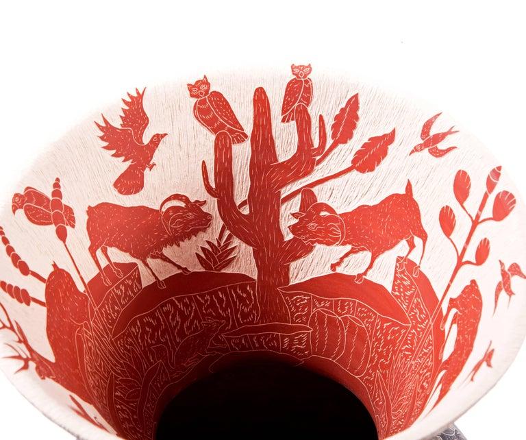 9'' Vasija Colosal / Ceramic Mexican Folk Art from Mata Ortiz For Sale 2