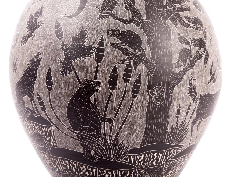 9'' Vasija Colosal / Ceramic Mexican Folk Art from Mata Ortiz For Sale 3