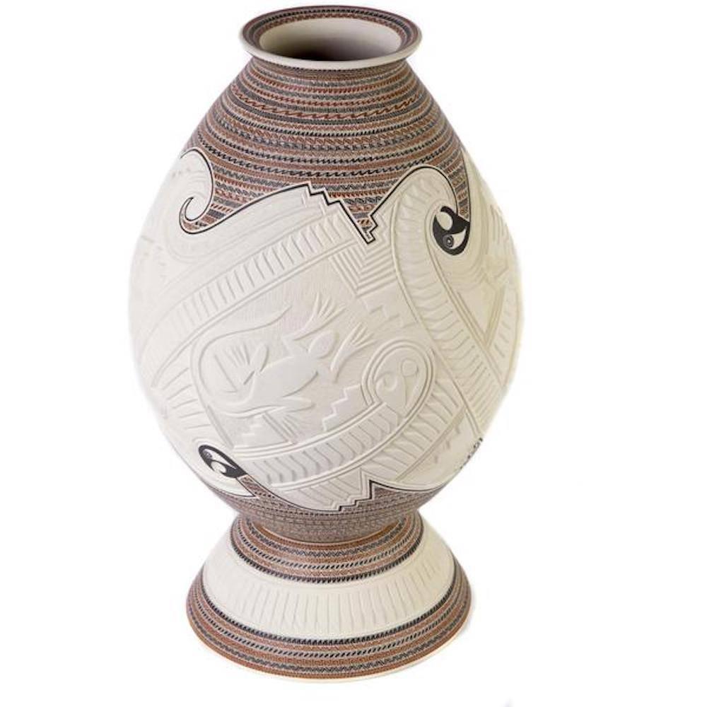 10'' Vasija Natural / Ceramic Mexican Folk Art from Mata Ortiz