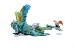 Iguana Amigable - Friendly Iguana - Mexican Folk Art  Cactus Fine Art
