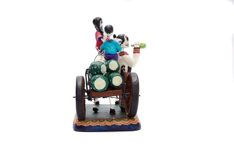 Familia del Mezcal - Mezcal Family - Mexican Folk Art  Cactus Fine Art For Sale 3