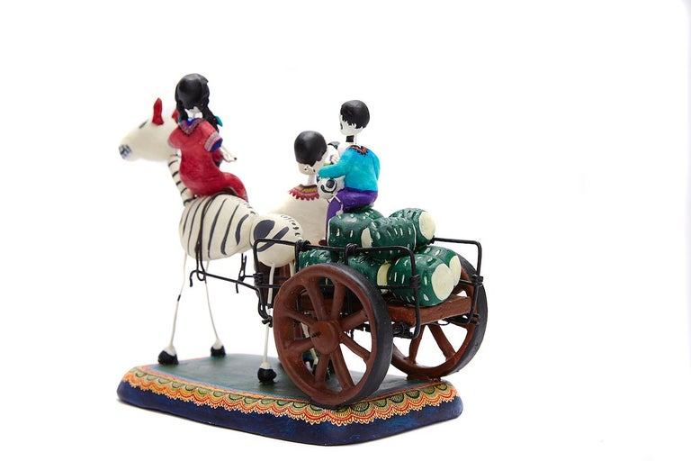 Familia del Mezcal - Mezcal Family - Mexican Folk Art  Cactus Fine Art For Sale 4