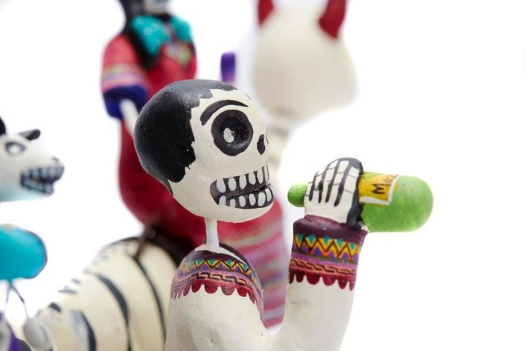 Familia del Mezcal - Mezcal Family - Mexican Folk Art  Cactus Fine Art - Sculpture by Taller Alfonso Castillo Orta