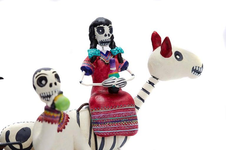 Familia del Mezcal - Mezcal Family - Mexican Folk Art  Cactus Fine Art For Sale 2