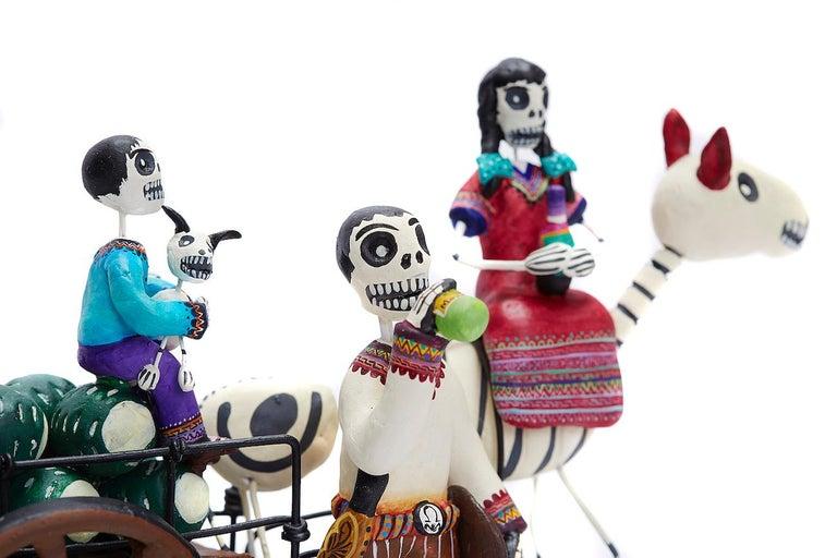 Familia del Mezcal - Mezcal Family - Mexican Folk Art  Cactus Fine Art For Sale 6