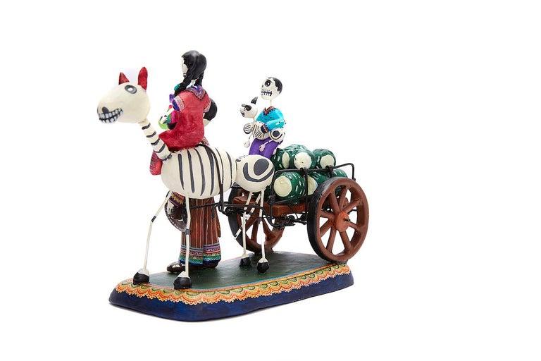 Familia del Mezcal - Mezcal Family - Mexican Folk Art  Cactus Fine Art For Sale 8