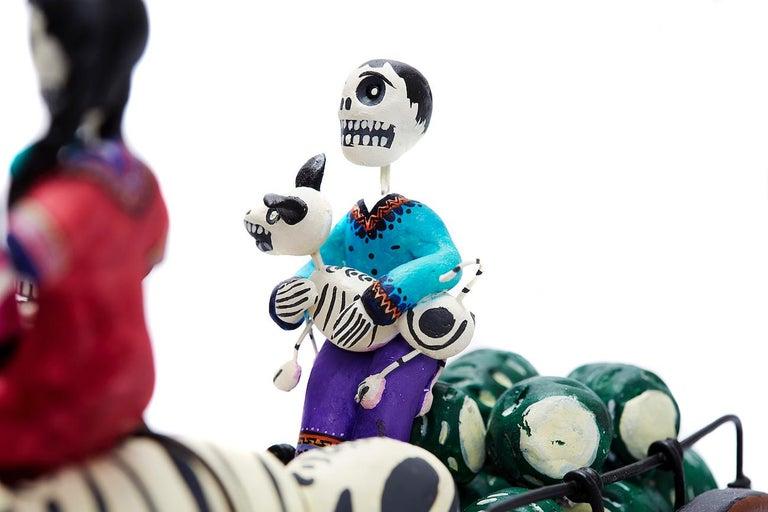 Familia del Mezcal - Mezcal Family - Mexican Folk Art  Cactus Fine Art For Sale 11