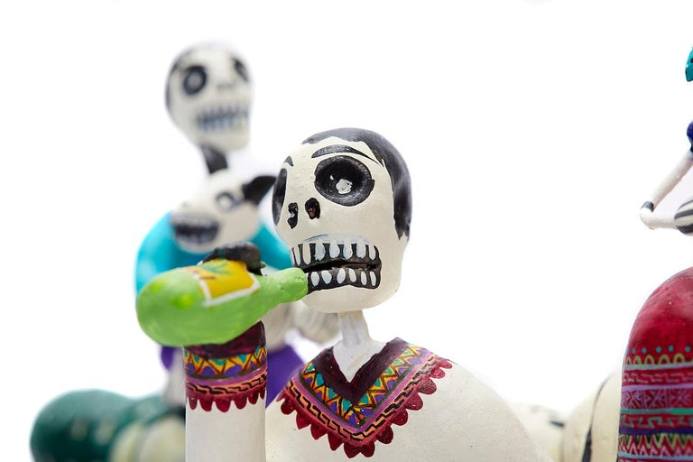Familia del Mezcal - Mezcal Family - Mexican Folk Art  Cactus Fine Art For Sale 14
