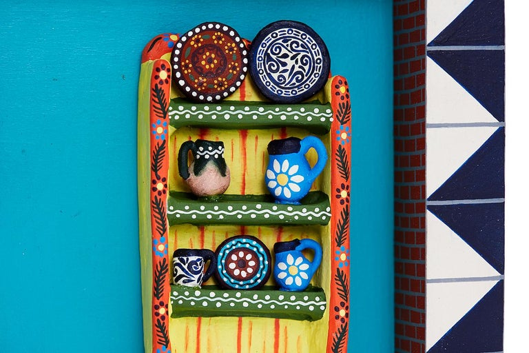 Cuadro Cocina Talavera - Talavera Kitchen Picture  Made with natural clay and polychrome painting. Hand-modeled technique and cooked in an oven.  LISTING =================================== 1 Talavera Kitchen