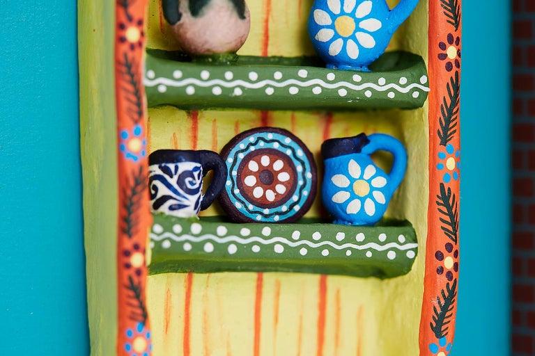 Cuadro Cocina Talavera - Talavera Kitchen - Mexican Folk Art  Cactus Fine Art For Sale 3