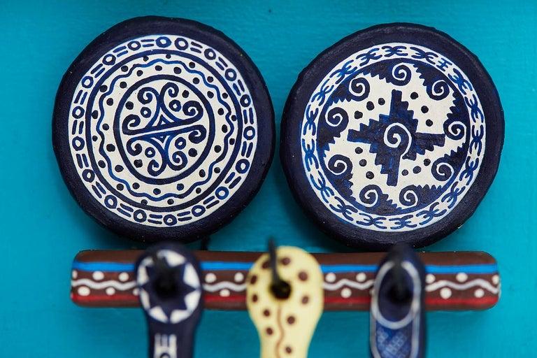 Cuadro Cocina Talavera - Talavera Kitchen - Mexican Folk Art  Cactus Fine Art For Sale 4