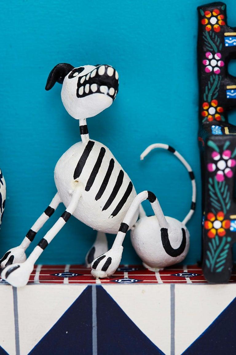 Cuadro Cocina Talavera - Talavera Kitchen - Mexican Folk Art  Cactus Fine Art For Sale 5