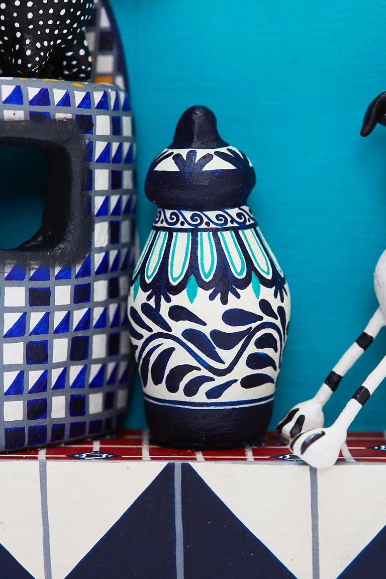 Cuadro Cocina Talavera - Talavera Kitchen - Mexican Folk Art  Cactus Fine Art For Sale 6