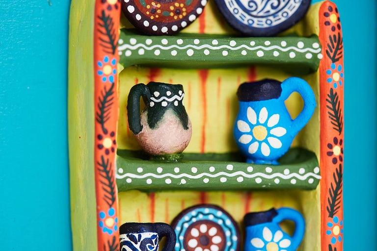 Cuadro Cocina Talavera - Talavera Kitchen - Mexican Folk Art  Cactus Fine Art For Sale 7