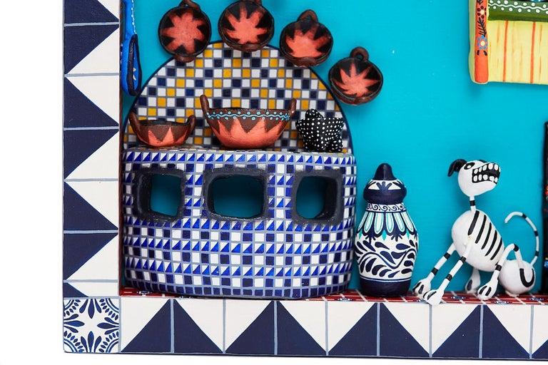 Cuadro Cocina Talavera - Talavera Kitchen - Mexican Folk Art  Cactus Fine Art For Sale 9
