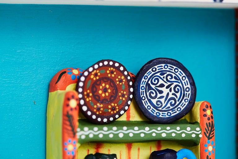 Cuadro Cocina Talavera - Talavera Kitchen - Mexican Folk Art  Cactus Fine Art For Sale 10