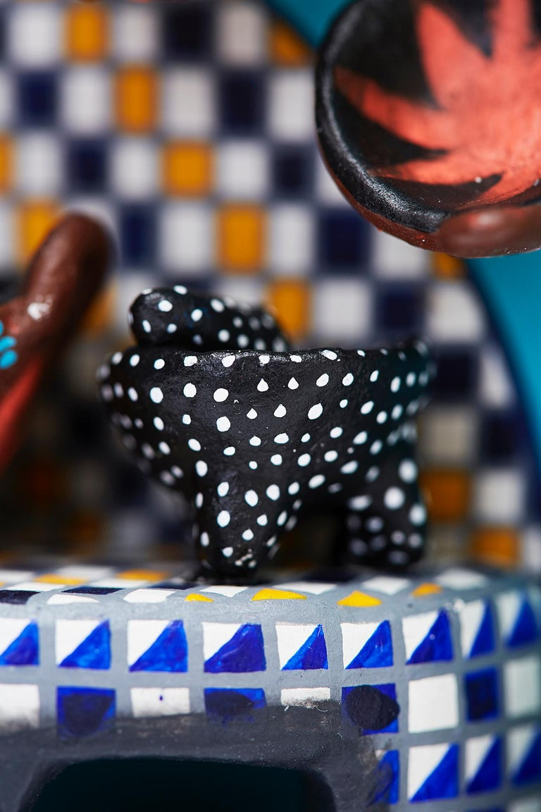 Cuadro Cocina Talavera - Talavera Kitchen - Mexican Folk Art  Cactus Fine Art For Sale 12