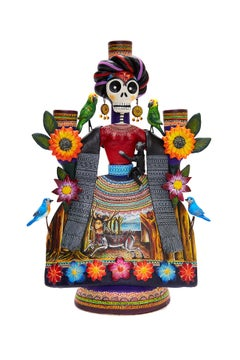 Frida Espectacular - Amazing Frida - Mexican Folk Art  Cactus Fine Art