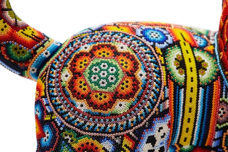 Leon - Lion - Hand Beaded - Mexican Huichol Art - Mexican Folk Art  For Sale 10