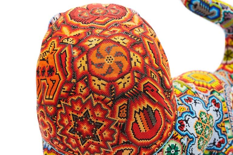 Leon - Lion - Hand Beaded - Mexican Huichol Art - Mexican Folk Art  For Sale 14
