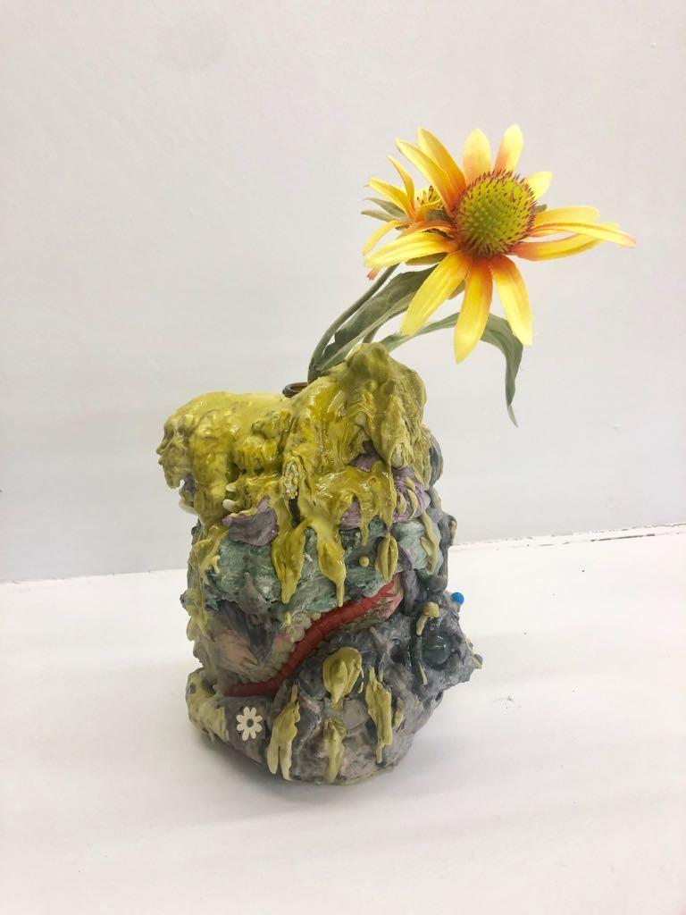 Vincent Dermody Figurative Sculpture - The Great O.K. Hand Gesture Hoax Is Not A Hoax
