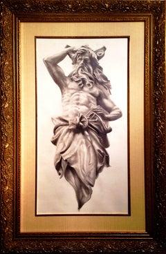 """Prophet by Larry Aarons, """"Gods, Prophets & Warriors"""" Drawing"""