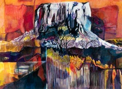 Mt. Kilimanjaro Revisited by Joan Sonnenberg, Abstract Painting, 2016