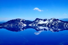Blue Mirror by Saevitz, Contemporary Landscape Photography, Mountain Photograph