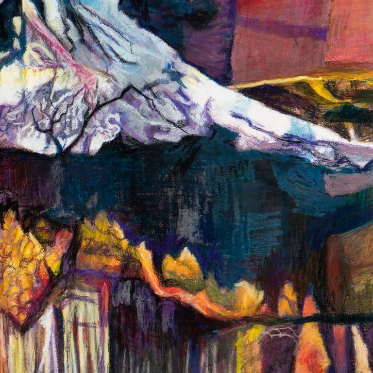 Mt. Kilimanjaro Revisited by Joan Sonnenberg, Abstract Painting, 2016  For Sale 2