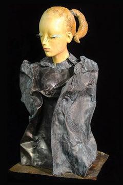 """Alessio Deli """"Donna di Piombo I"""" Resin and Lead Contemporary Art Sculpture"""