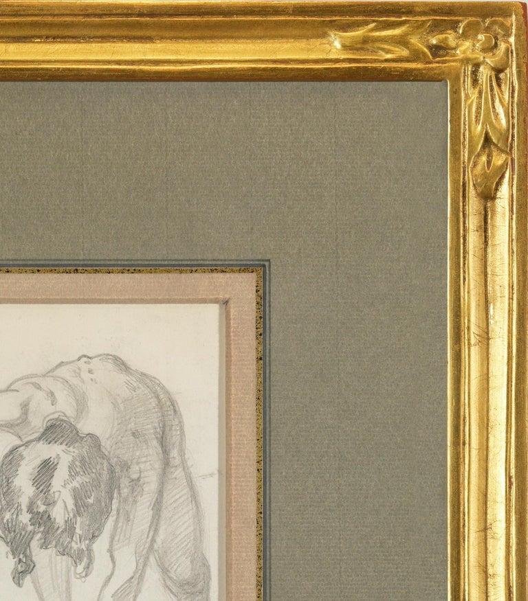 Figure Bending Over - Brown Nude by John Singer Sargent